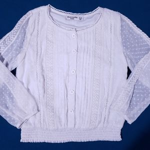 😍 Abercrombie Gorgeous Lacy Girls Top